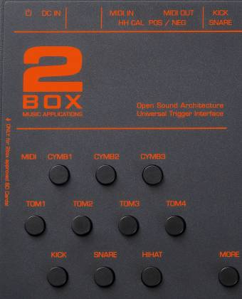 2 Box 11017 DrumIt 5 Mk2 Drum Module with 32GB of Exhangeable Memory Card and 6+2 Line Outs Product Image 4