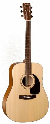 Simon & Patrick 048380 Woodland Concert Dreadnought 6-String RH Acoustic Electric Guitar with QIT Electronics and Bag Product Image 3