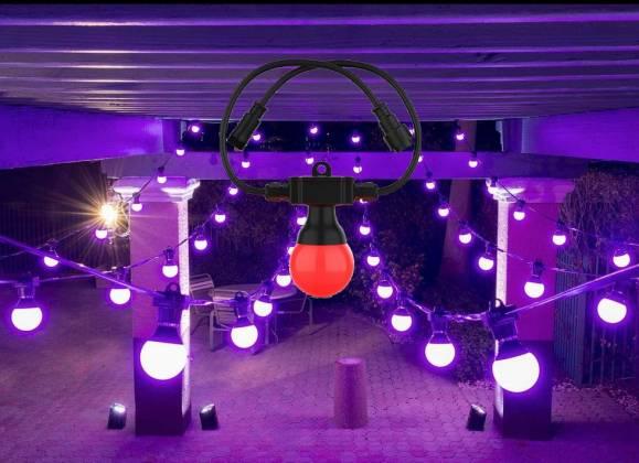 Chauvet DJ FESTOON 2 RGB IP54 Outdoor Rated Color-Mixing LED 49' Bulb String Light festoon-2-rgb Product Image