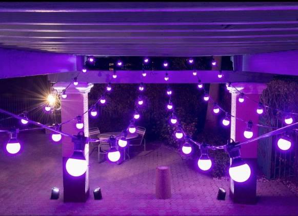 Chauvet DJ FESTOON 2 RGB IP54 Outdoor Rated Color-Mixing LED 49' Bulb String Light festoon-2-rgb Product Image 2