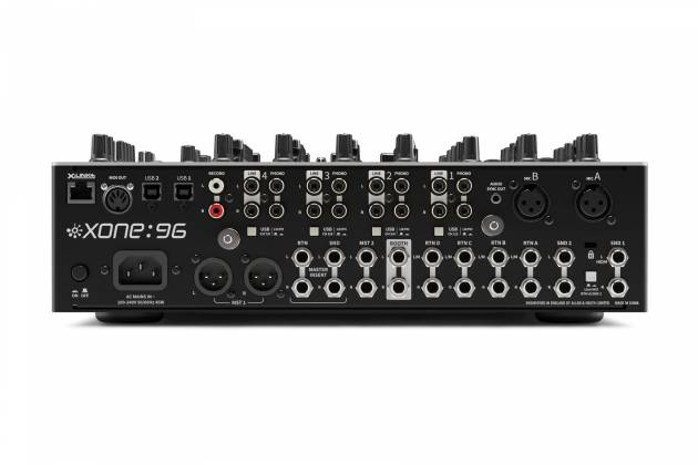Allen & Heath XONE:96 6 Into 2 Club & DJ Analogue DJ Mixer with Audio Interface x-one-96 Product Image 4
