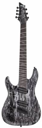 Schecter 1467-SHC C-7 Multiscale Silver Mountain 7-String LH Electric Guitar-Silver Mountain 1467-shc Product Image 2