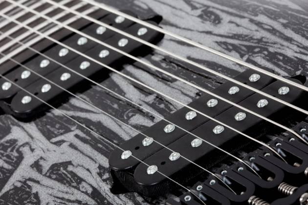 Schecter 1467-SHC C-7 Multiscale Silver Mountain 7-String LH Electric Guitar-Silver Mountain 1467-shc Product Image 5