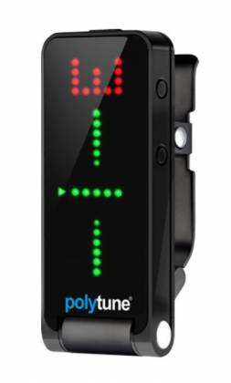 TC Electronic POLYTUNE CLIP BLACK Clip On Polyphonic Guitar Tuner-Black polytune-clip-black Product Image 4