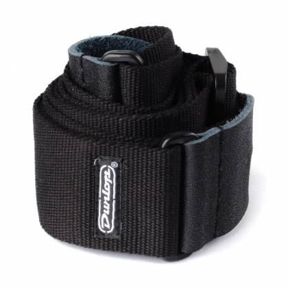 "Dunlop D21-01BK Adjustable 2"" Cotton Guitar Strap-Black D-21-01-BK Product Image 2"