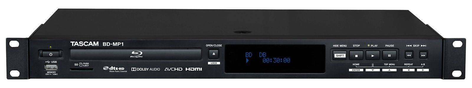 Tascam BD-MP1 Professional-Grade Blu-Ray and USB Media Player bd-mp-1 Product Image 9