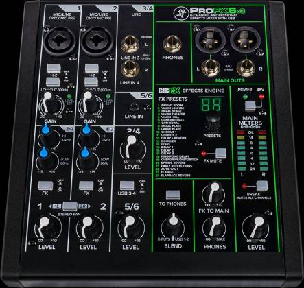 Mackie Performer Bundle with ProFX6v3 Effects Mixer with USB, Two EM-89D Dynamic Mics and MC-100 Headphones performer-bundle Product Image 11