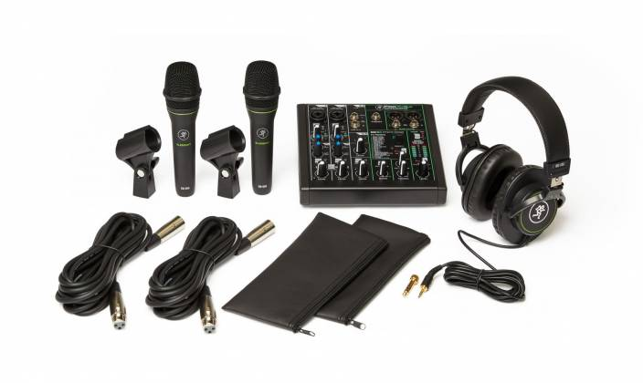 Mackie Performer Bundle with ProFX6v3 Effects Mixer with USB, Two EM-89D Dynamic Mics and MC-100 Headphones performer-bundle Product Image