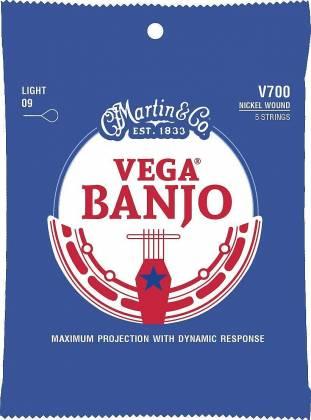 C. F. Martin & Co. V700 Vega Nickel Wound Banjo Strings Light Gauge 9-20 41-y-18-v-700 Product Image