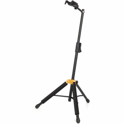 Hercules GS415B+ Auto Grip Single Guitar Stand with Foldable Yoke gs-415-b-plus Product Image