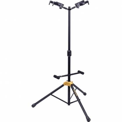 Hercules GS422B+ Universal Auto Grip Duo Guitar Stand with Foldable Backrest gs-422-b-plus Product Image