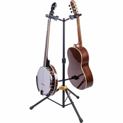 Hercules GS422B+ Universal Auto Grip Duo Guitar Stand with Foldable Backrest gs-422-b-plus Product Image 5