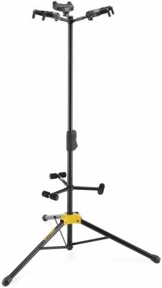 Hercules GS432B+ Auto Grip Triple Guitar Stand with Foldable Backrest gs-42-b-plus Product Image