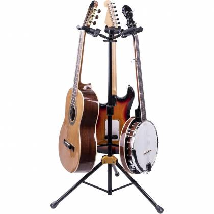 Hercules GS432B+ Auto Grip Triple Guitar Stand with Foldable Backrest gs-42-b-plus Product Image 3