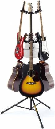 Hercules GS526B+ Auto Grip Display Stand for up to 6 Guitars gs-526-b-plus Product Image 5