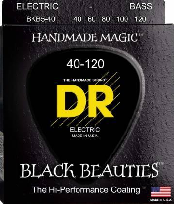 DR Strings BKB5-40 Black Beauties 5-String Bass Strings Light Gauge 40-120 bkb-5-40 Product Image