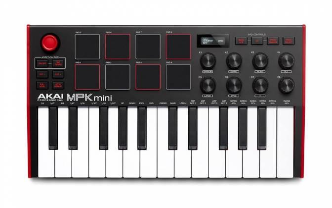 Akai MPK Mini 3 USB MIDI Compact Keyboard and Pad Controller mpk-mini-3 Product Image 2