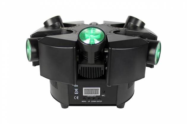Blizzard SHOQWAVE X6 RGBW 6-Head Moving Centrepiece Effects Lighting shoqwave-x-6 Product Image 4