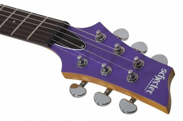 Schecter 429-SHC C-6 Deluxe 6-String RH Electric Guitar-Satin Purple 429-shc Product Image 2