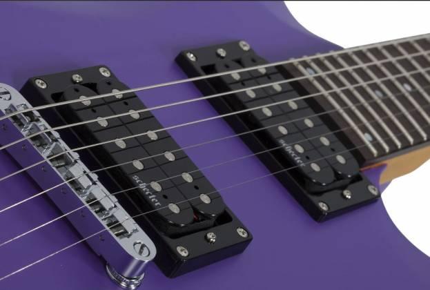 Schecter 429-SHC C-6 Deluxe 6-String RH Electric Guitar-Satin Purple 429-shc Product Image 8