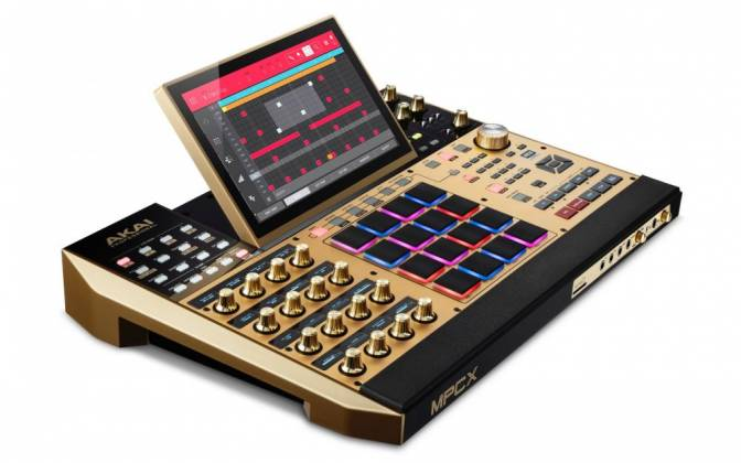 Akai MPCXGOLDXUS Standalone Portable Music Production Centre - Limited Edition Gold Color mpc-x-gold-xus Product Image