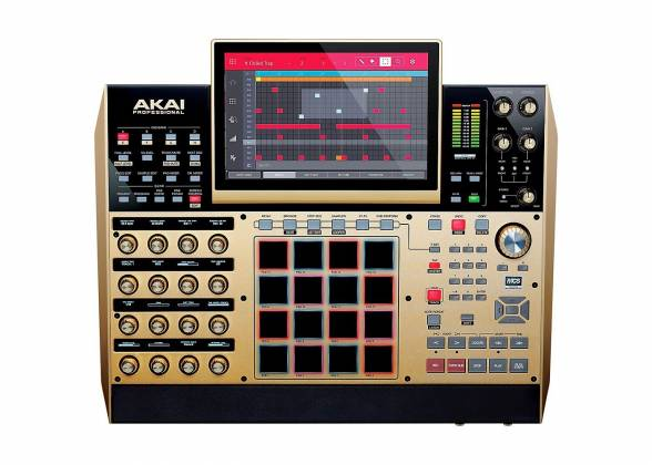 Akai MPCXGOLDXUS Standalone Portable Music Production Centre - Limited Edition Gold Color mpc-x-gold-xus Product Image 3