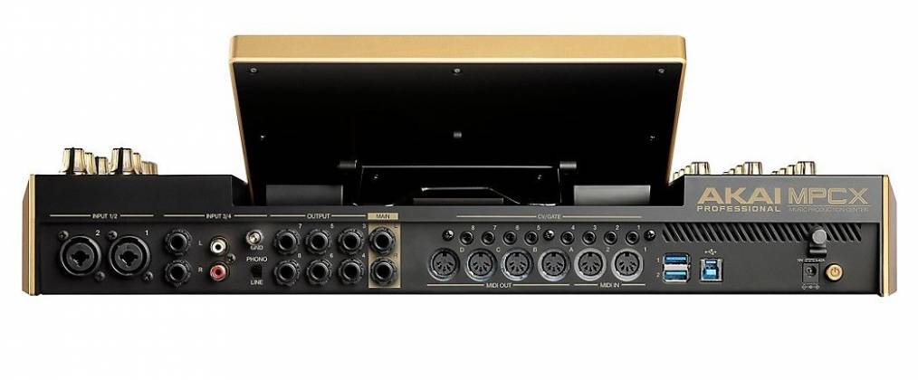 Akai MPCXGOLDXUS Standalone Portable Music Production Centre - Limited Edition Gold Color mpc-x-gold-xus Product Image 2
