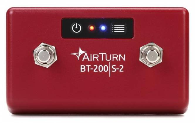 AirTurn BT200S-2 Bluetooth Foot Controller for DMX Lighting and Bluetooth MIDI bt-200-s-2 Product Image