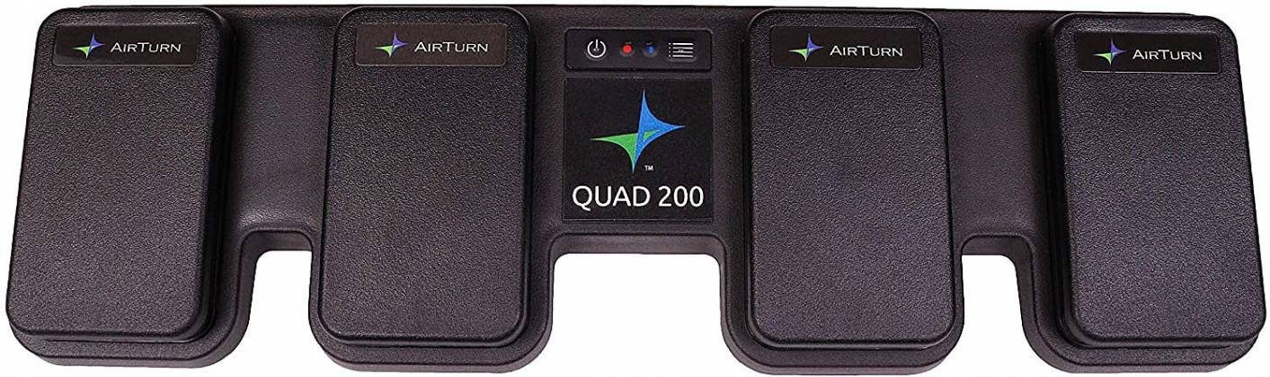 AirTurn QUAD200 Four Pedal Wireless Controller for Hands-free Computer Control quad-200 Product Image