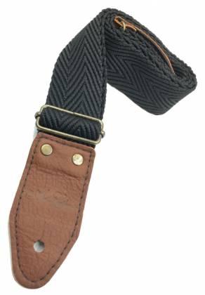 Art & Lutherie 045310 Wrangler Black Guitar Strap 045310 Product Image 2