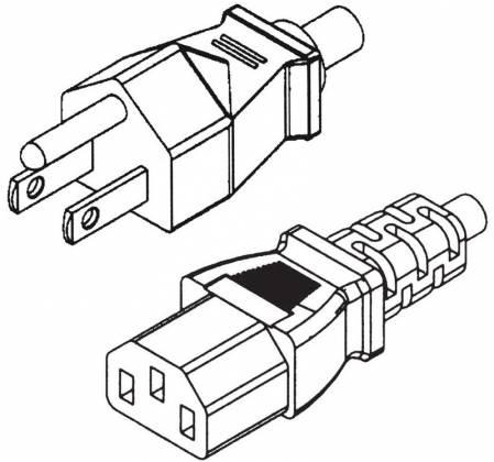 BlueDiamond 6836 Black CSA Powercord IEC to Uground-18AWG-15ft 6836 Product Image
