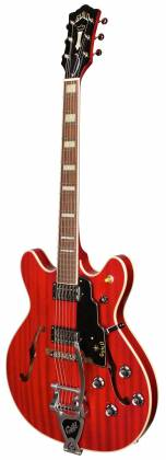 Guild Starfire V Newark Series 6-String RH Semi-Hollow Electric Guitar with Tremolo and Humidified Hard Case-Cherry Red 379-2205-866 Product Image 3