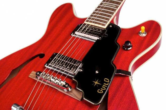 Guild Starfire V Newark Series 6-String RH Semi-Hollow Electric Guitar with Tremolo and Humidified Hard Case-Cherry Red 379-2205-866 Product Image 8