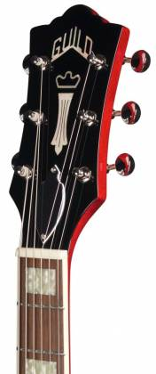 Guild Starfire V Newark Series 6-String RH Semi-Hollow Electric Guitar with Tremolo and Humidified Hard Case-Cherry Red 379-2205-866 Product Image 6