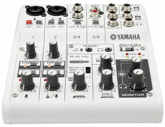 Yamaha AG06 6-channel Mixer and USB Audio Interface ag-06 Product Image 5