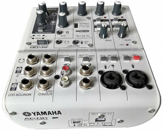 Yamaha AG06 6-channel Mixer and USB Audio Interface ag-06 Product Image 2