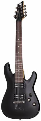 Schecter 3822-SHC C-7 SGR 7-String RH Electric Guitar-Midnight Satin Black 3822-shc Product Image 2
