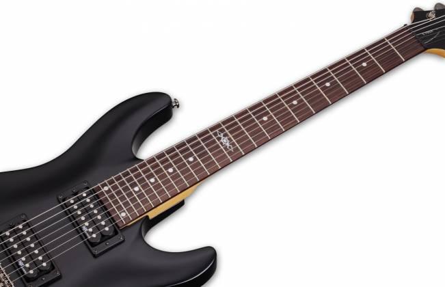 Schecter 3822-SHC C-7 SGR 7-String RH Electric Guitar-Midnight Satin Black 3822-shc Product Image 6