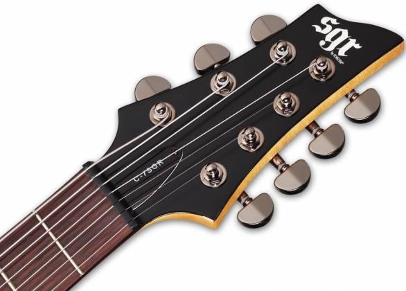 Schecter 3822-SHC C-7 SGR 7-String RH Electric Guitar-Midnight Satin Black 3822-shc Product Image 4