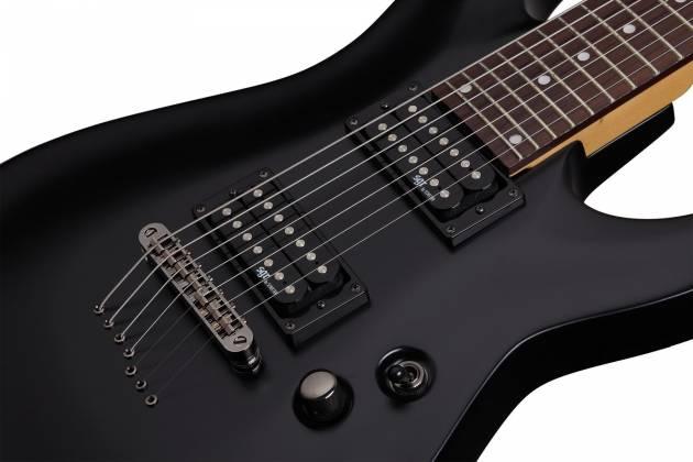 Schecter 3822-SHC C-7 SGR 7-String RH Electric Guitar-Midnight Satin Black 3822-shc Product Image 3