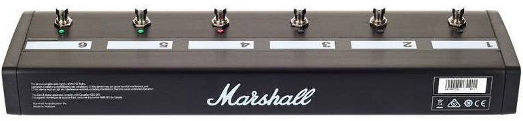 Marshall PEDL91016 6-way Footswitch for JVM4, DSL40CR and DSL100HR pedl-91016 Product Image 3
