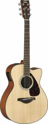 Yamaha FSX800C Concert Cutaway 6-String RH Acoustic Electric Guitar-Natural fsx-800-c Product Image 2