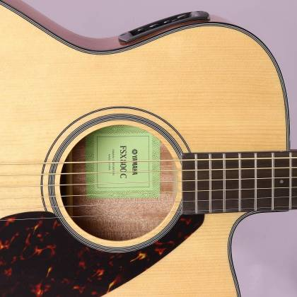 Yamaha FSX800C Concert Cutaway 6-String RH Acoustic Electric Guitar-Natural fsx-800-c Product Image 5
