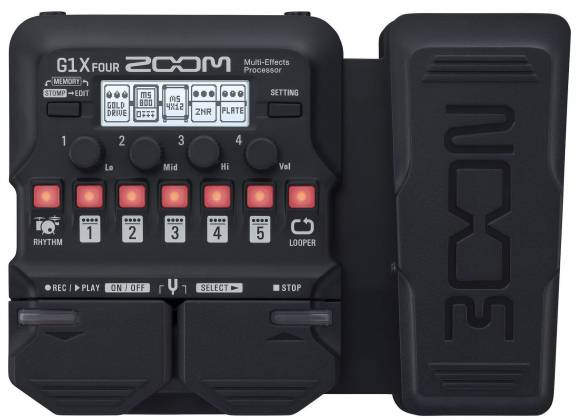 Zoom G1X FOUR Multi-effects Processor with Expression Guitar Effects Pedal zg-1-xfour Product Image 4