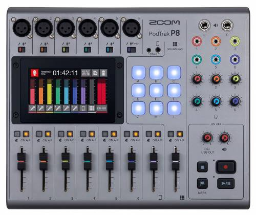 Zoom P8 PodTrak  8-Channel Podcasting Mixer zp-8 Product Image