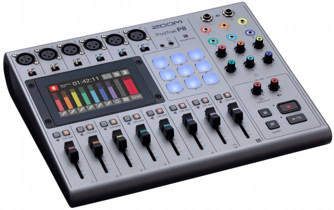 Zoom P8 PodTrak  8-Channel Podcasting Mixer zp-8 Product Image 6