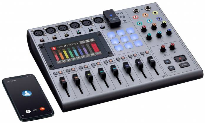 Zoom P8 PodTrak  8-Channel Podcasting Mixer zp-8 Product Image 5