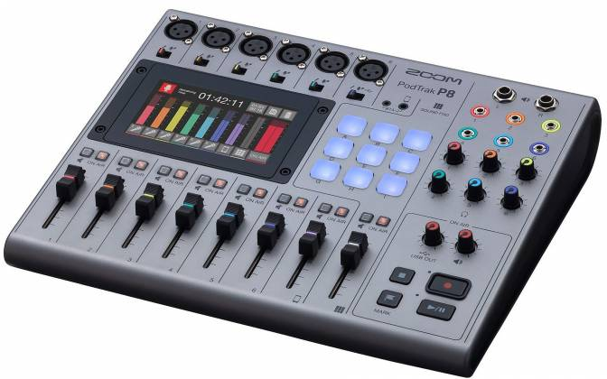 Zoom P8 PodTrak  8-Channel Podcasting Mixer zp-8 Product Image 4