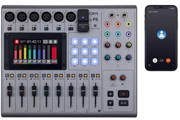 Zoom P8 PodTrak  8-Channel Podcasting Mixer zp-8 Product Image 3