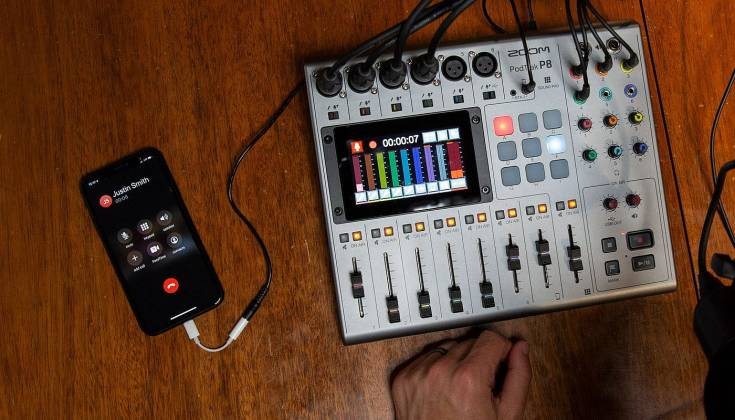 Zoom P8 PodTrak  8-Channel Podcasting Mixer zp-8 Product Image 8